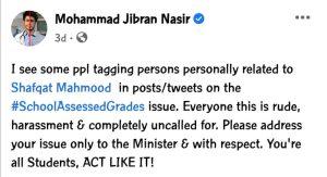 Jibran Nasir Statement