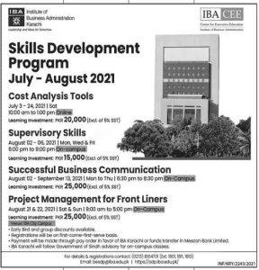 IBA Karachi Skill Development Program 2021