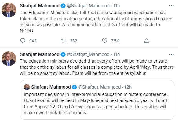 Govt to Pass All Intermediate & Matric Students